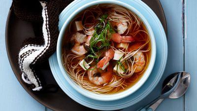"Recipe: <a href=""http://kitchen.nine.com.au/2016/05/16/16/11/prawn-and-tofu-noodle-soup"" target=""_top"">Prawn and tofu noodle soup</a>"