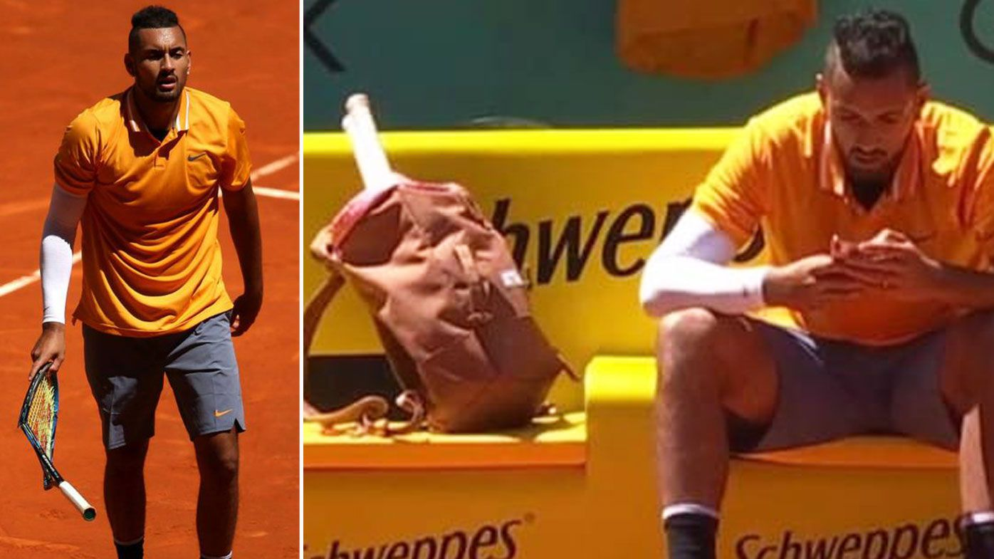 Nick Kyrgios crashes out of Madrid Open in 'cringeworthy performance'