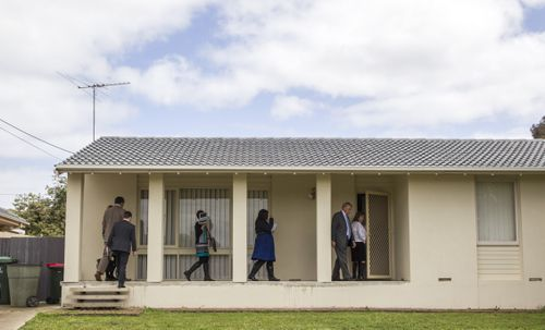 The former house of child killer Dieter Pfennig is examined by prosecutors in September 2015 as part of Pfennig's murder trial. (AAP)
