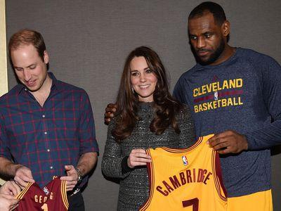 LeBron James with Kate Middleton, 2014