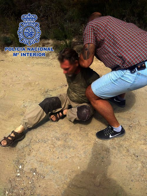 The 55-year-old was tracked to a wooden area in the mountains north of Barcelina where he had been living in a tent.