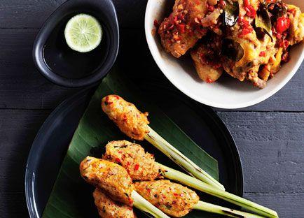 Balinese seafood satay (Sate lilit)