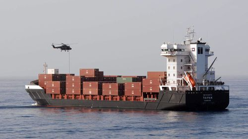 In 2010 Dutch marines abseiled from a helicopter to free the German container ship MS Taipan that came under attack by pirates off the Somali coast. (AAP)