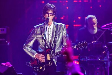 CLEVELAND, OH - APRIL 14:  Inductee Ric Ocasek of The Cars performs during the 33rd Annual Rock & Roll Hall of Fame Induction Ceremony at Public Auditorium on April 14, 2018 in Cleveland, Ohio.  (Photo by Jeff Kravitz/FilmMagic)