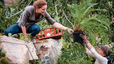 Kate Middleton Duchess of Cambridge set up Chelsea Flower Show Back to Nature Garden