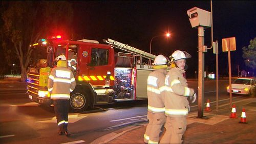 A traffic speed camera in Adelaide was the target of an alleged arson attack overnight.