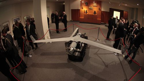 A ScanEagle unmanned aerial vehicle is seen at the Australian War Memorial in Canberra, 2013