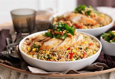 Chicken rice casserole