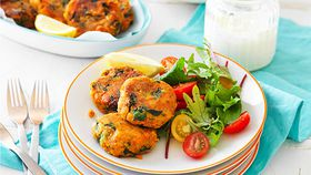 Sweet potato and lentil pattie