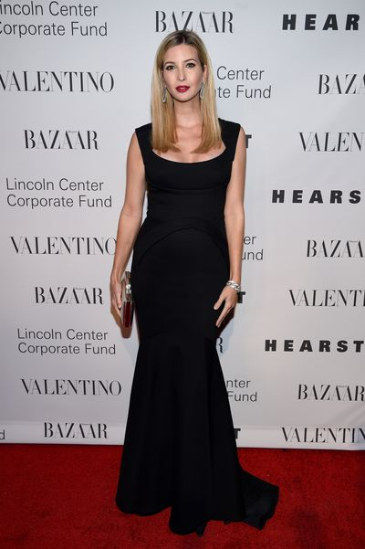Ivanka Trump wearing Valentino at an evening honoring the designer in New York, December, 2015