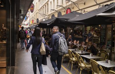 Melbourne laneways and restaurants