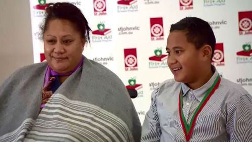 Young Melbourne boy honoured for saving mum's life as goal to train all students in first aid set for 2020