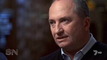 Barnaby Joyce during interview