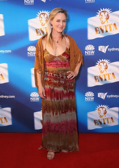 Actress Rachel Beck at the premiere of <em>Evita,</em> Sydney Opera House.