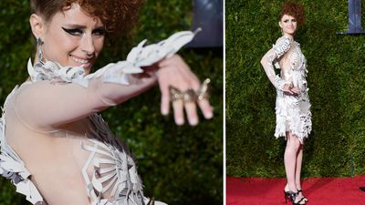 Canadian musician Kiesza made a splash on the red carpet. (AAP)