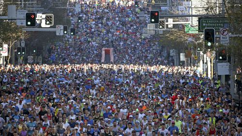 This year's City2Surf was attended by 80,000 people. (AAP)