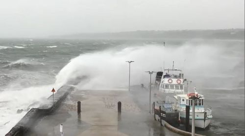 Residents in New South Wales, Victoria and Tasmania have all been put on alert for wild winds and huge tides as a cold front passes.