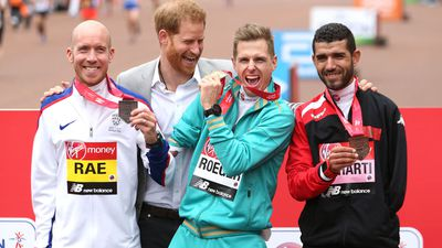 Prince Harry attends the London Marathon, April 2019