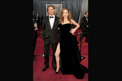 Looking more streetwalker than starlet, Angelina Jolie's infamous right leg took over the internet in 2012.