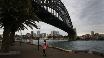 A quiet Sydney as new coronavirus restrictions came into force