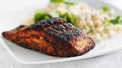 """Recipe: <a href=""""http://kitchen.nine.com.au/2017/03/30/11/40/asian-inspired-baked-salmon-with-quinoa-and-vegetables"""" target=""""_top"""">Asian inspired baked salmon with quinoa and vegetables</a>"""