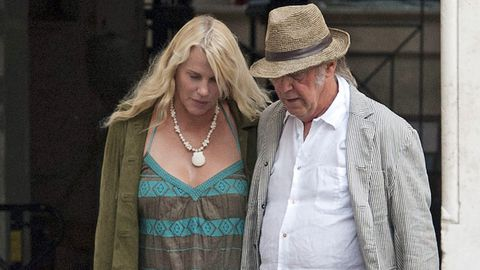 Daryl Hannah and Neil Young.