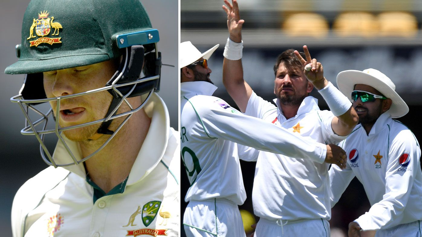 Steve Smith was dismissed for four to Yasir Shah