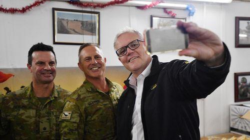 Australian Prime Minister Scott Morrison visiting Iraq yesterday.