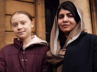 Greta Thunberg and Malala Yousafzai at Oxford University