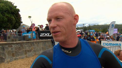 A year on from his injuries, Trent has competed in the world's largest open-water swim.