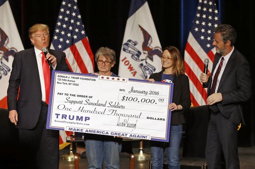 The lawsuits relate to spending made by the Trump Foundation during the 2016 election. Picture: AAP