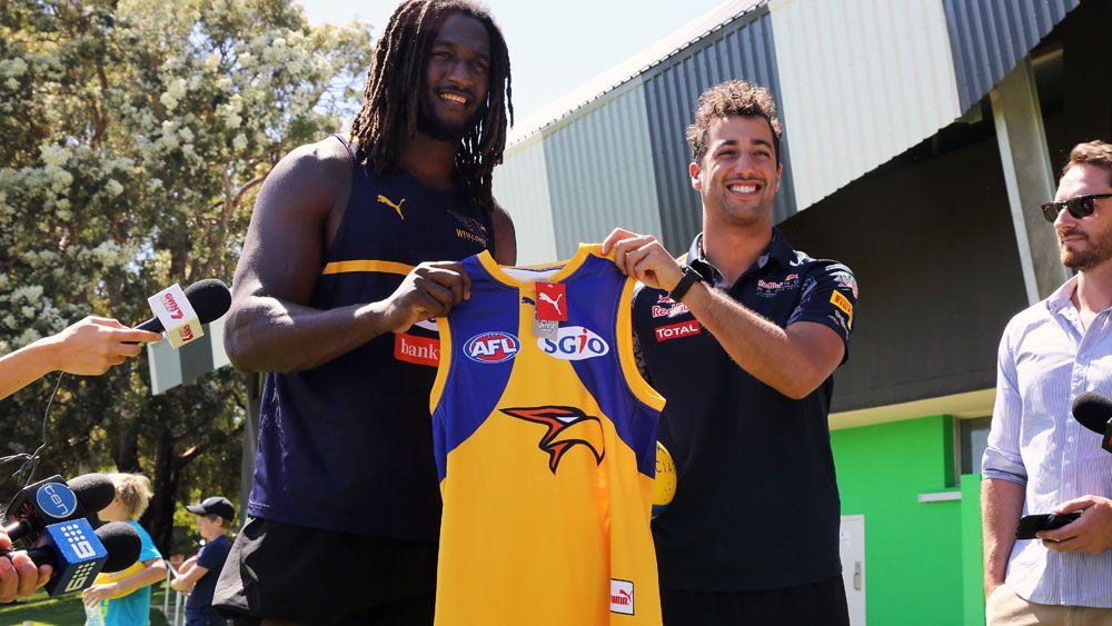 Australian Formula One star Daniel Ricciardo draws inspiration from West Coast Eagles AFL finals run