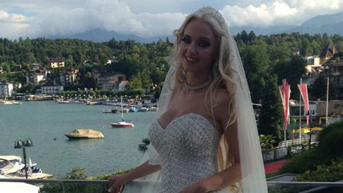 The young bride posted on Facebook that she was thrilled to be in love and married to her billionaire beau. (Picture: Facebook)