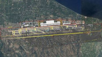 The proposed space for Bali's second airport.