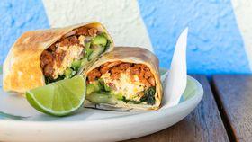 Estate Taqueria's chorizo breakfast burrito