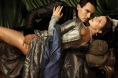 """<div align=""""left""""><B>Played by:</b> Jonathan Rhys Meyers.</p><br/>Maybe not so much addicted to sex as he is… motivated to make a male heir, Henry VIII works his way through a total of six wives in just 38 episodes, without taking so much as a coffee break between sessions.</div>"""