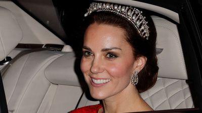 Kate Middleton wearing a tiara