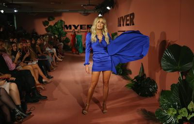 Model Elyse Knowles on the catwalk for the Myer spring/summer '18 show
