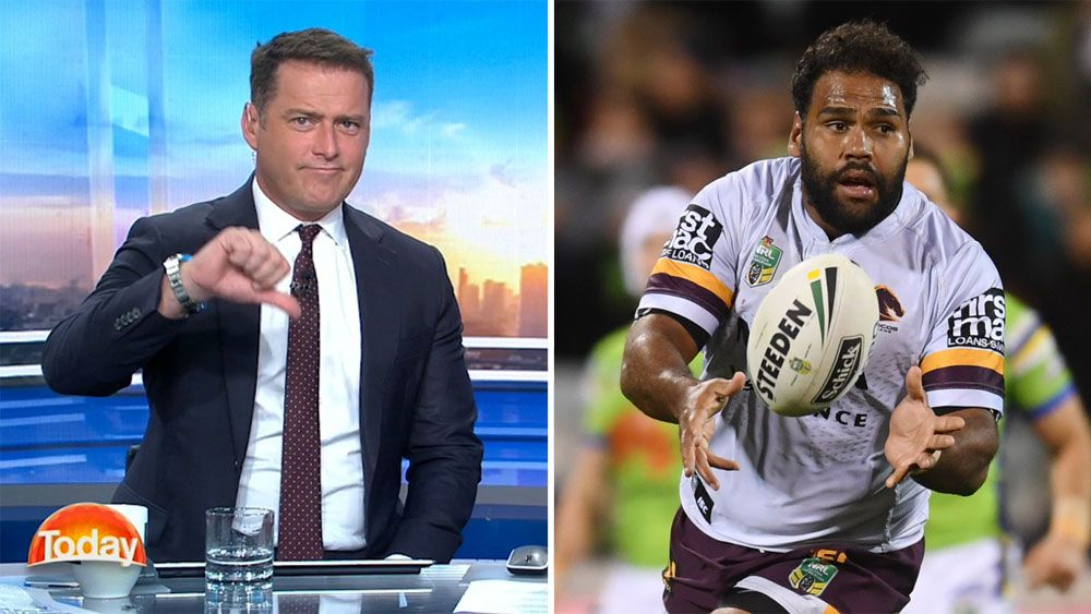"Today show host Karl Stefanovic brands Brisbane Broncos ""disgusting"" for dumping Sam Thaiday"