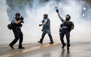 Violent clashes in Minneapolis over death of man in custody as his sister calls for justice