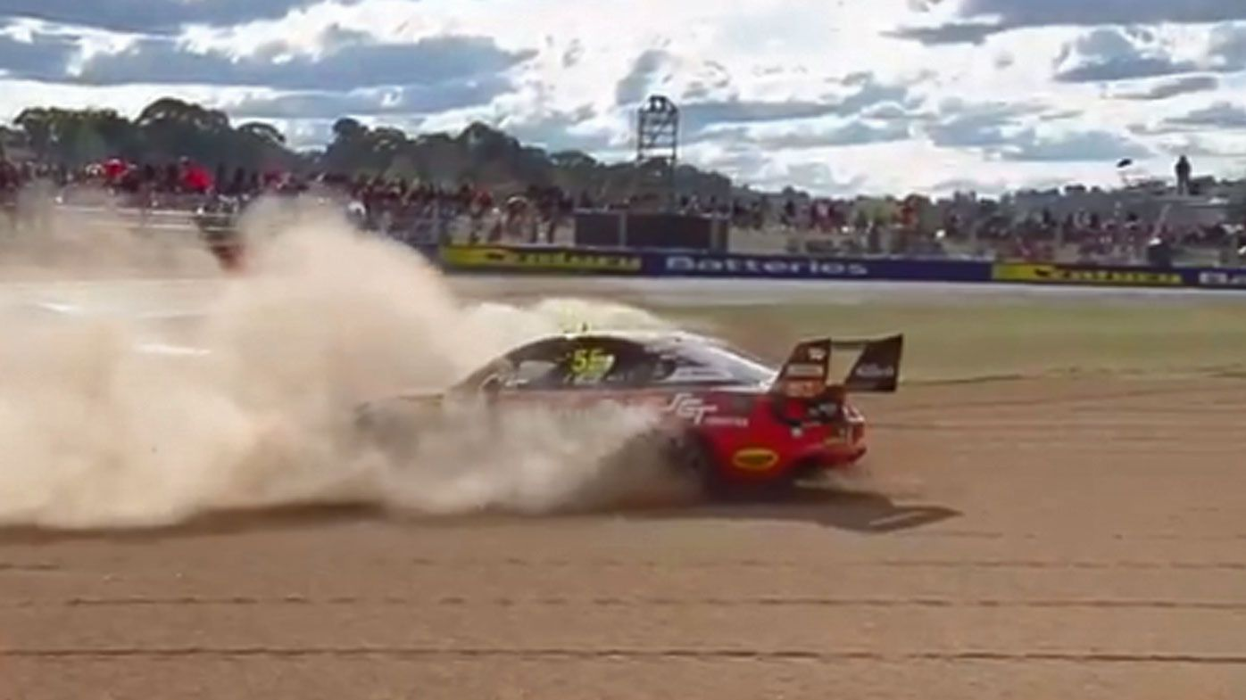 Mostert and Waters crash