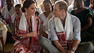 Kate and William attend a 'Namghar' in Kaziranga - an Assamese site of worship, on day four of their tour.