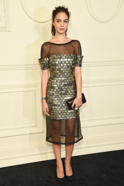 <p>Wearing Chanel at the Métiers d'Art Paris-Salzburg show.</p>