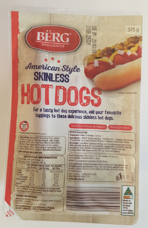 These Aldi hotdogs have been recalled over concerns about bacteria and bone fragments.