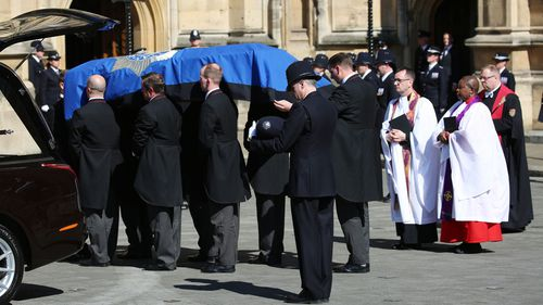 PC Palmer will be farewelled tomorrow. (AAP)