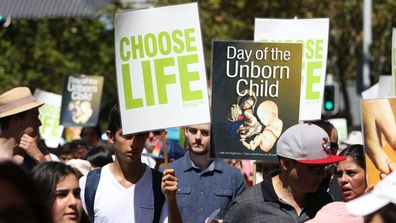 In Tasmania, the NT and Victoria it's illegal to protest outside abortion clinics. (AAP)