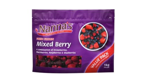The recall affects all 1kg packs of Nanna's Fresh Frozen Mixed Berry with a best before date up to and including November 22, 2016. (Supplied)