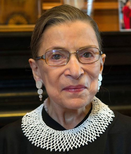 Eighty-five-year-old Supreme Court Justice Ruth Bader Ginsburg is in hospital after fracturing three ribs in a fall at her court office.