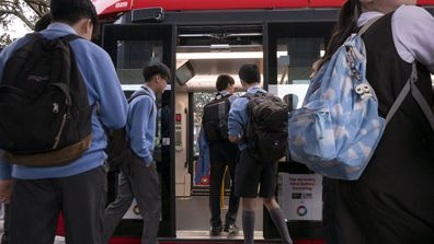 School students in NSW are being urged to avoid the state's public transport network.