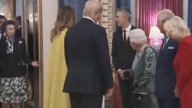 "Princess Anne appears to snub a greeting with Donald Trump and Melania Trump as she's ""scolded"" by The Queen"